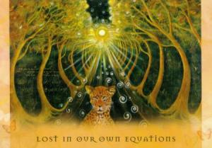 Lost in Our Own Equations, from Toni Carmine Salerno's Universal Wisdom deck