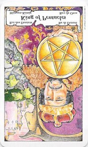 reversed King of Pentacles, Tarot to Go