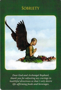 Sobriety, Archangel Raphael Healing Oracle Cards