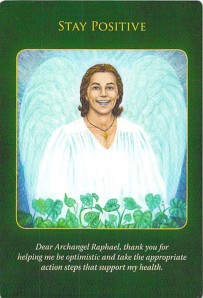 Stay Positive -- Archangel Raphael Healing Oracle Cards