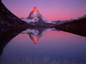 sunrise over the Matterhorn