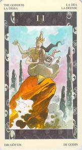 The Goddess -- Samurai Tarot