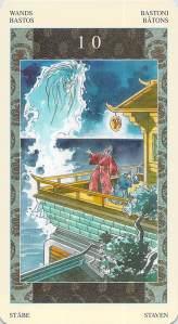 Ten of Wands -- Samurai Tarot