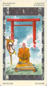 The Magician -- Samurai Tarot