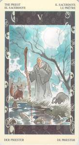 The Priest, from the Samurai Tarot