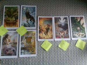 A spread on tarot reading, and my tarot reading in particular, using the Wildwood Tarot.