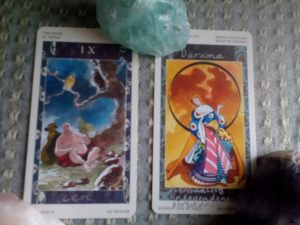 The Monk and the Queen of Pentacles