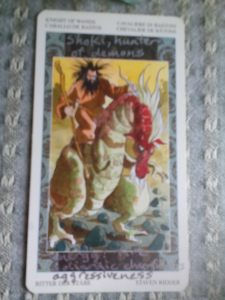 Knight of Wands, Shoki, hunter of demons