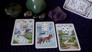 Stork, Fox, Garden, Lenormand