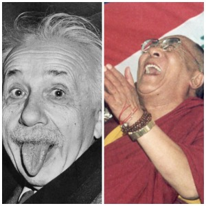 Einstein, Dalai Lama, laughter