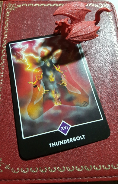 Thunderbolt, the Tower, Osho Zen Tarot
