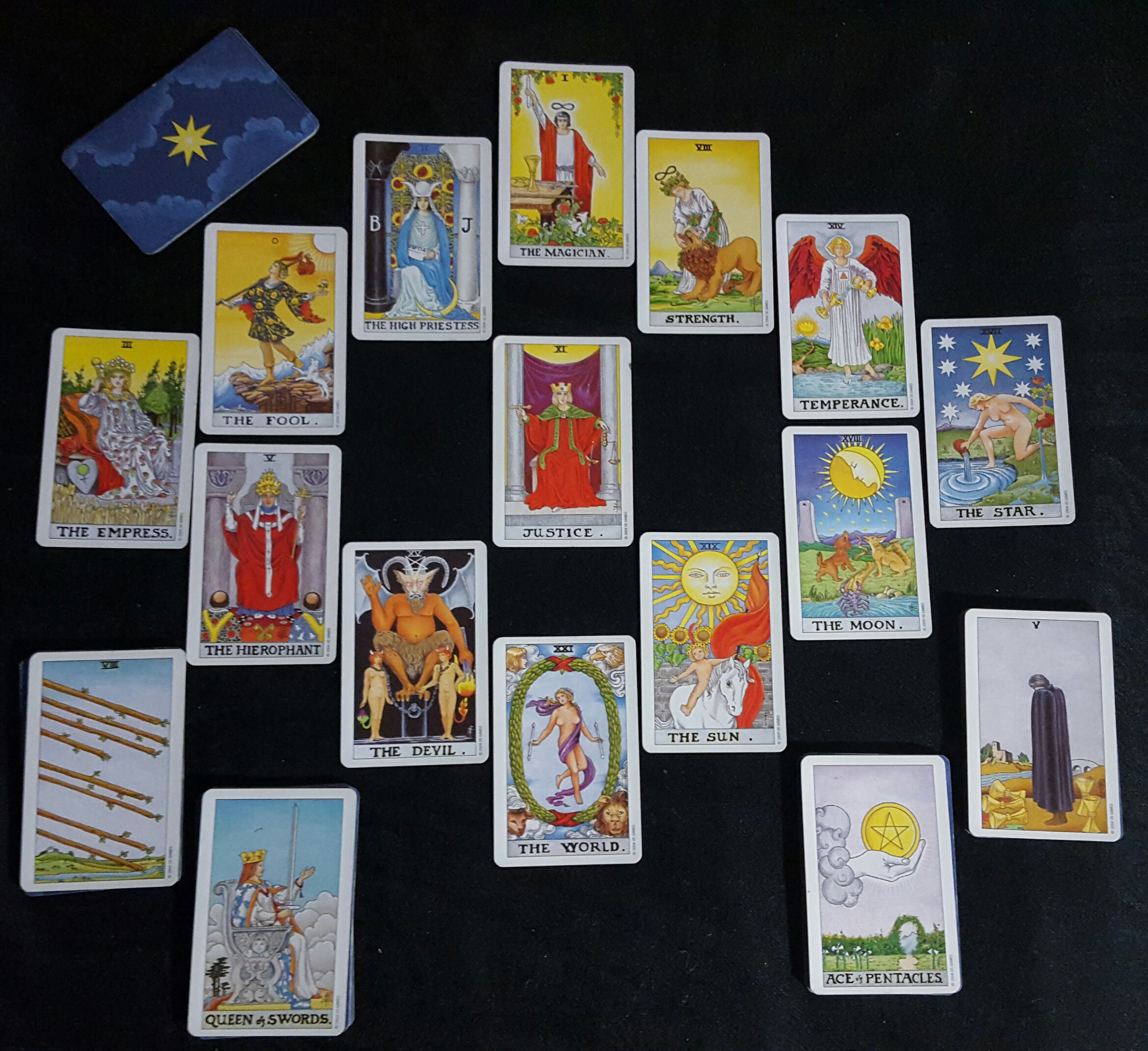 Universal Waite, tarot reading