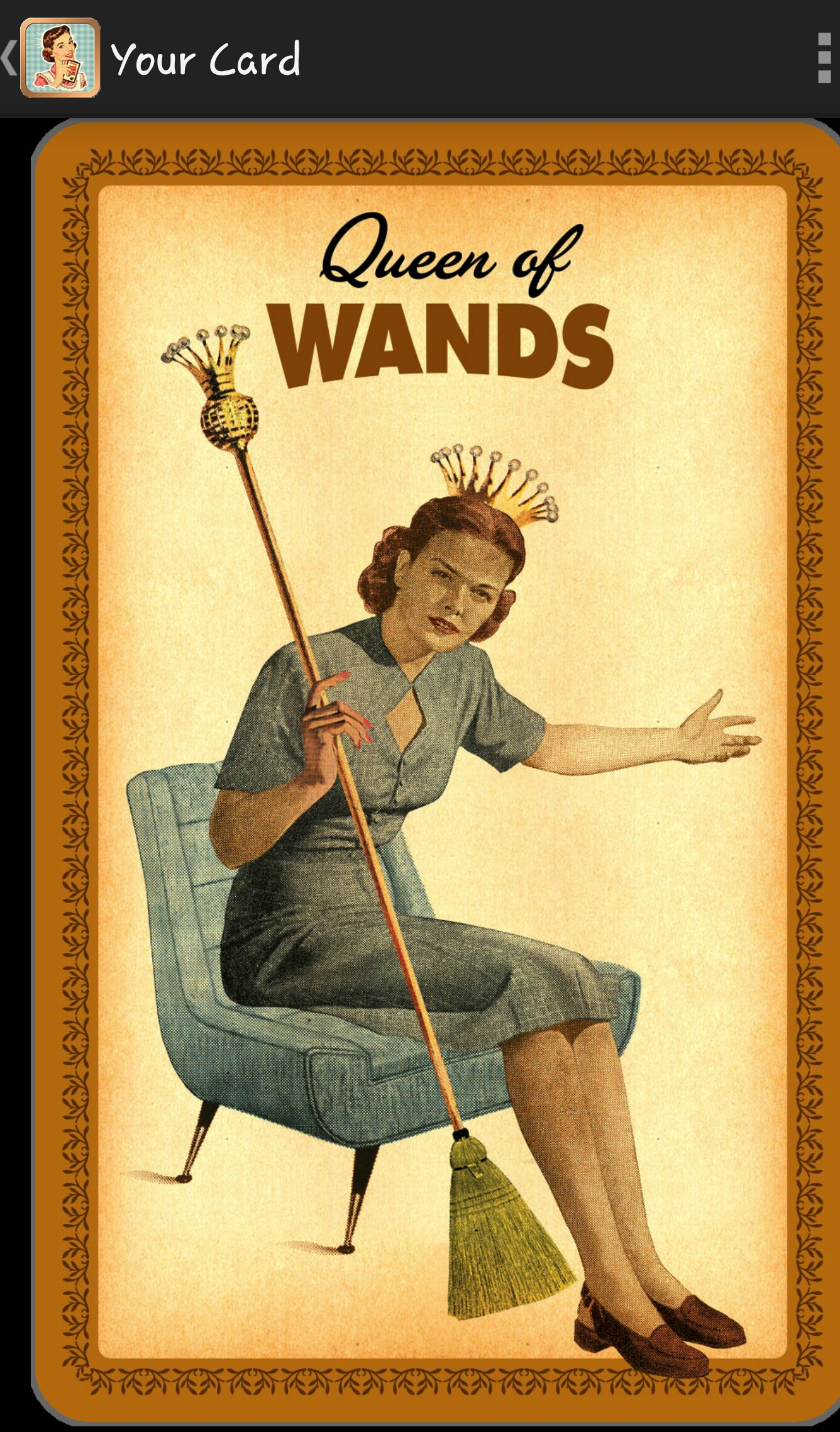 Queen of Wands, Housewives Tarot