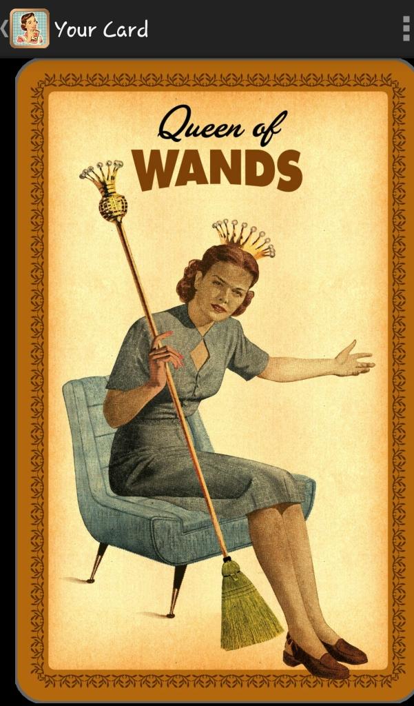 Queen of Wands, Housewives Tarot