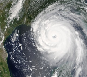 Hurricane Katrina, here to illustrate the unstoppability of natural forces