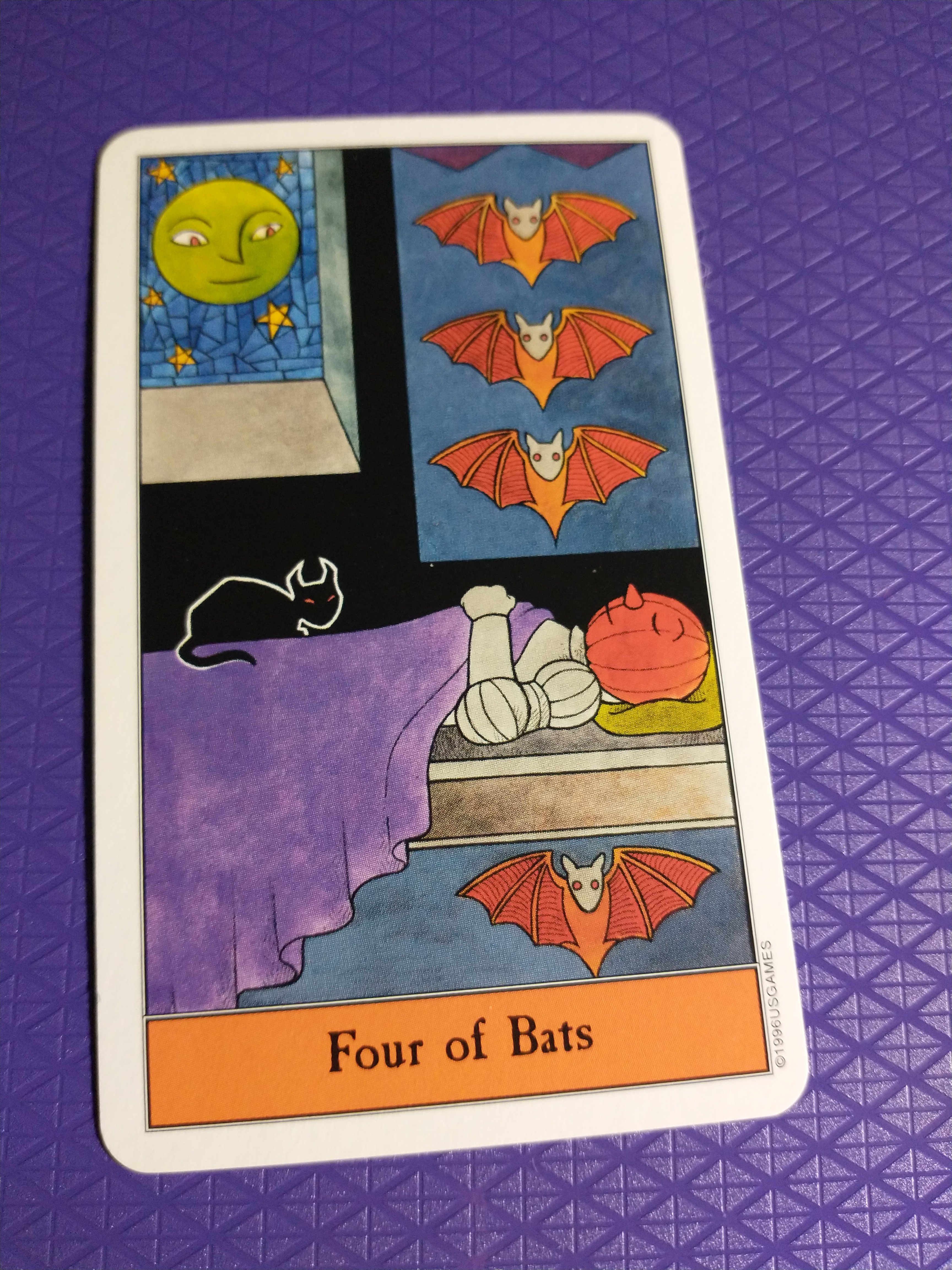 Four of Bats (Four of Swords)